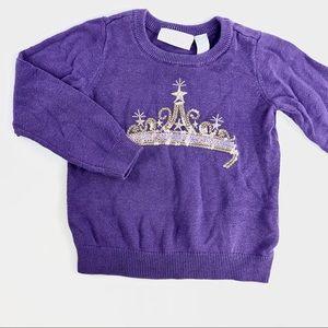 """Purple """"Tiara"""" sweater"""